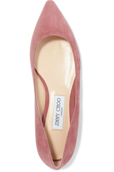 best sneakers 7281b 489d4 Choo Toe Rose Flats Romy Products Suede Point Jimmy Antique