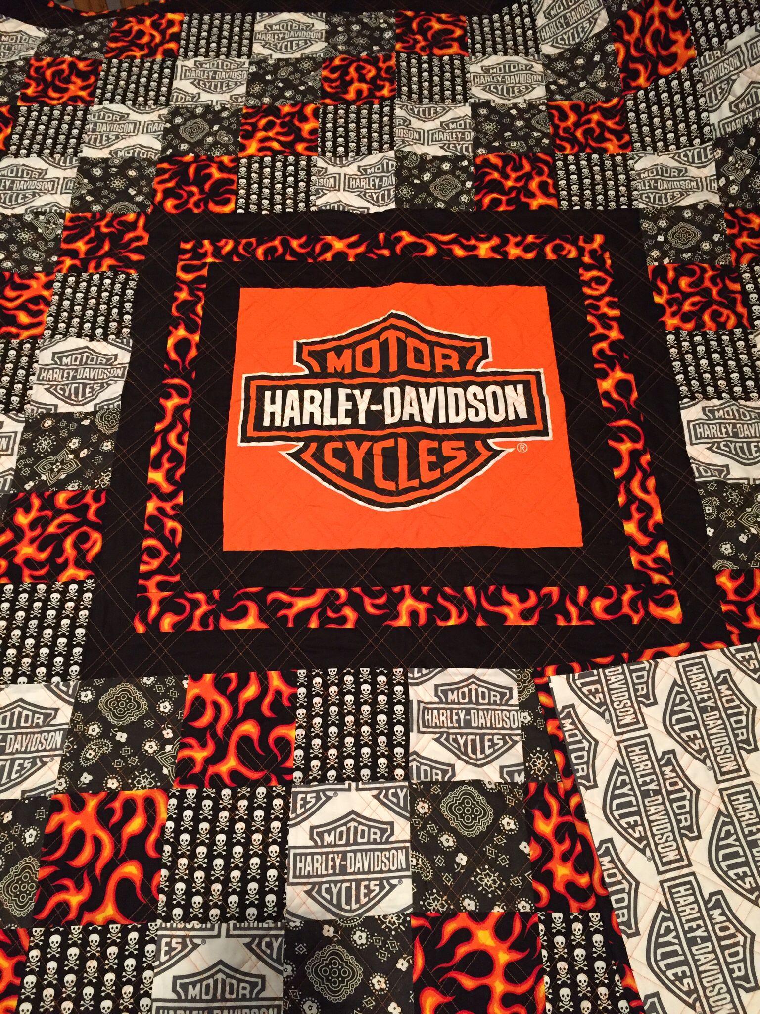 Harley Davidson Quilt Quilt A Harley Davidson Art