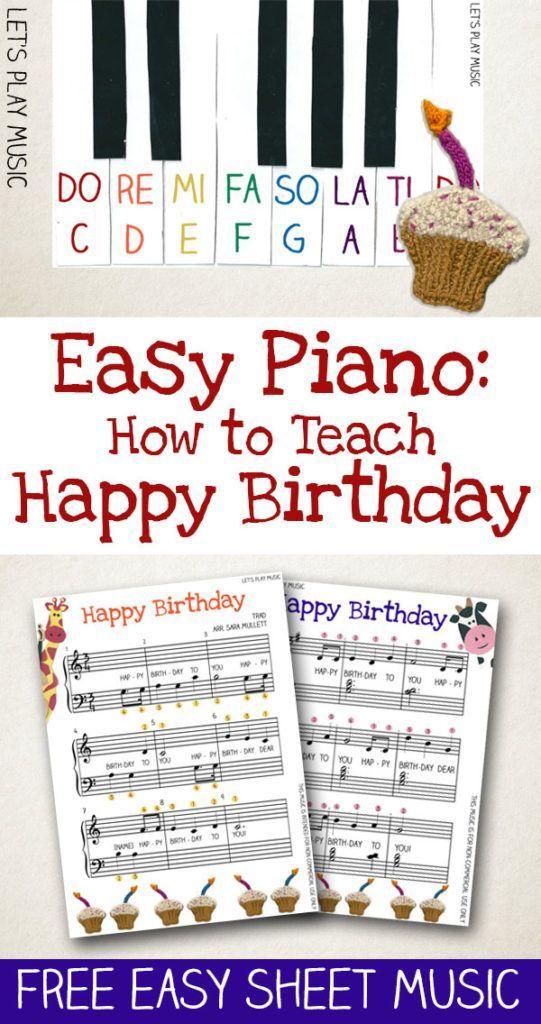 How to Teach Piano Happy Birthday Easy Piano Music