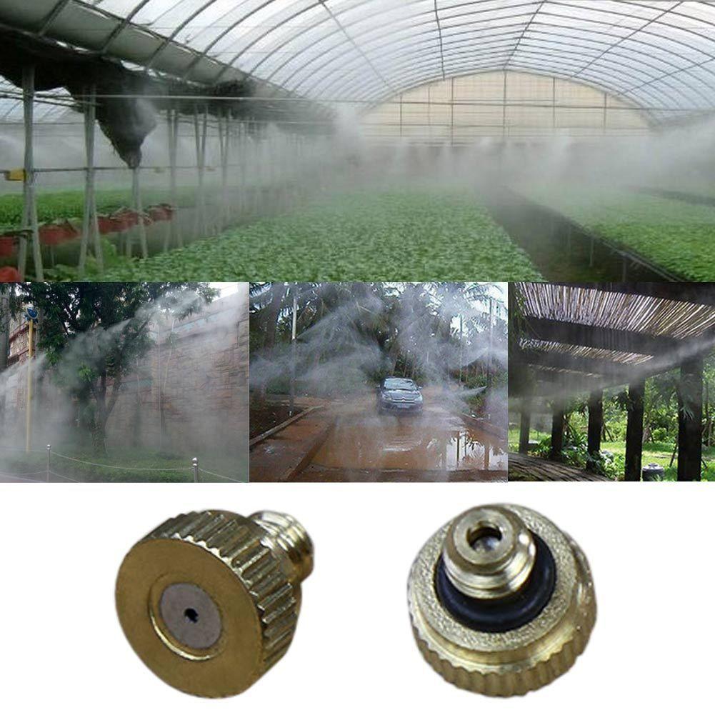 Mist Nozzle Head Sprinkler Fogging Atomizing Irrigation Water Spray Garden Tool