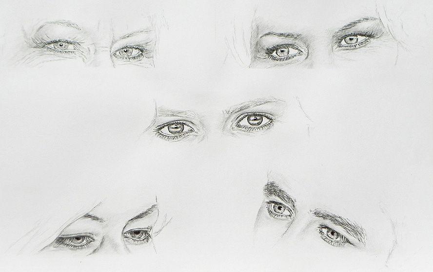 Gesichter zeichnen lernen -Details Nase Mund Augen Ohren | Augen u ...