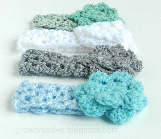 Grow Creative: Baby Girl Crochet Headbands | Crochet | Pinterest ...