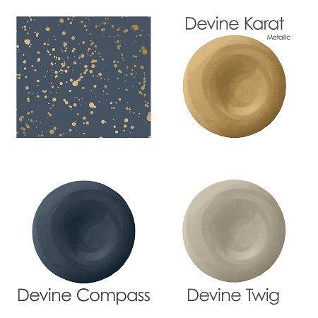 Wallpapering Built Ins Peel And Stick Wallpaper Blue Wall Art Metallic Gold Color