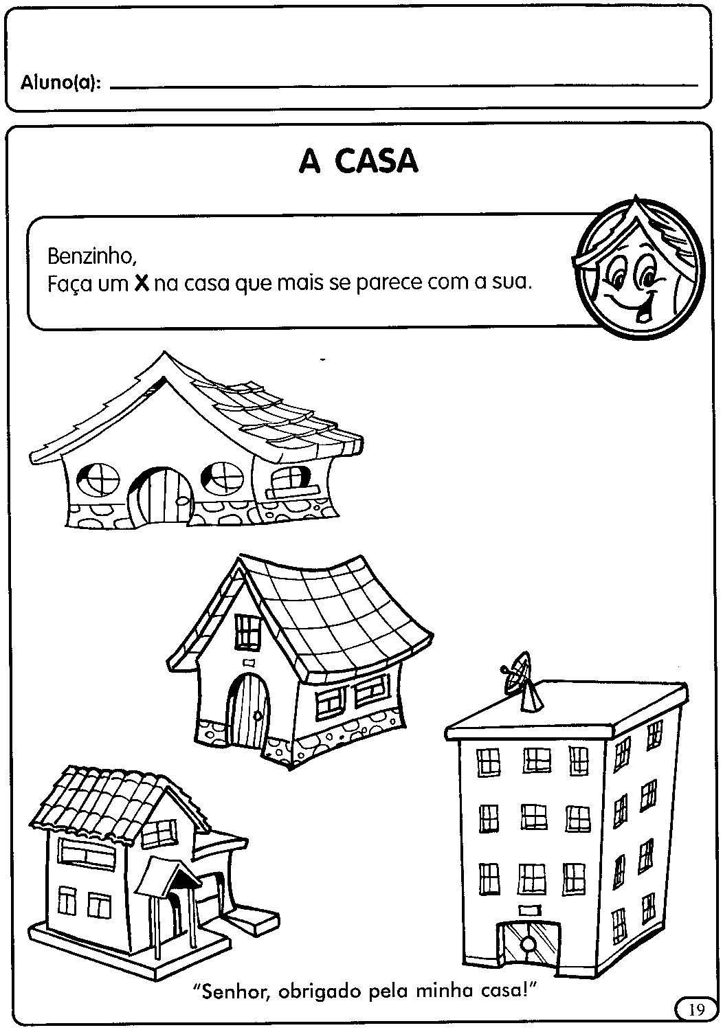 Atividades sobre a casa, moradia para a Educação Infantil