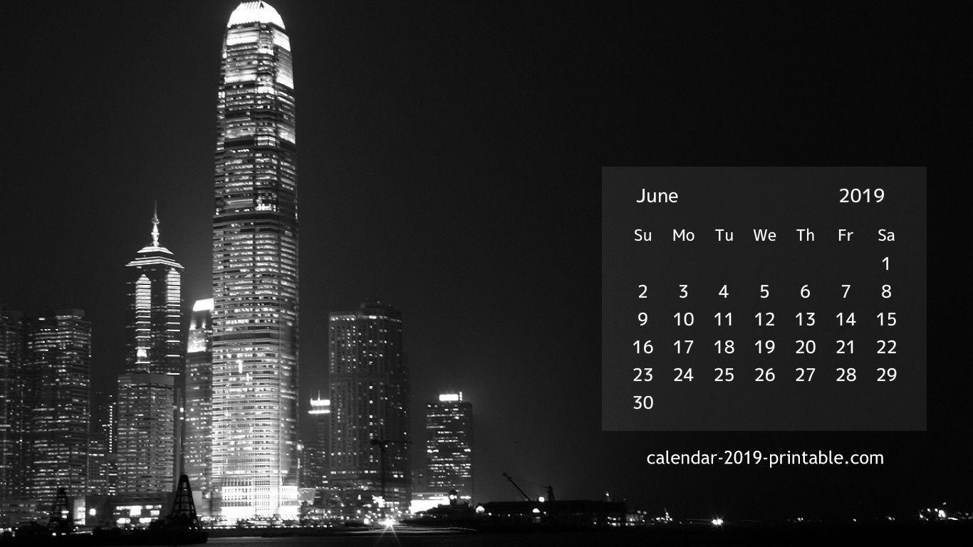 June 2019 Desktop Hd Calendar Calendar 2019 Printable Desktop Wallpaper Calendar June 2019 Calendar