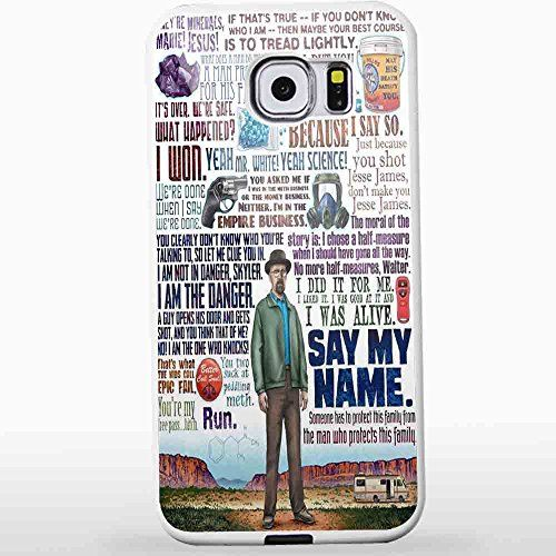 Heisenberg Quote Art Breaking Bad for Iphone and Samsung Galaxy Case (Samsung S6 White)