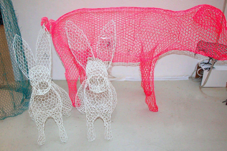 Third Part Into The Neon Palette Chicken Wire Sculpture Chicken Wire Art Wire Art