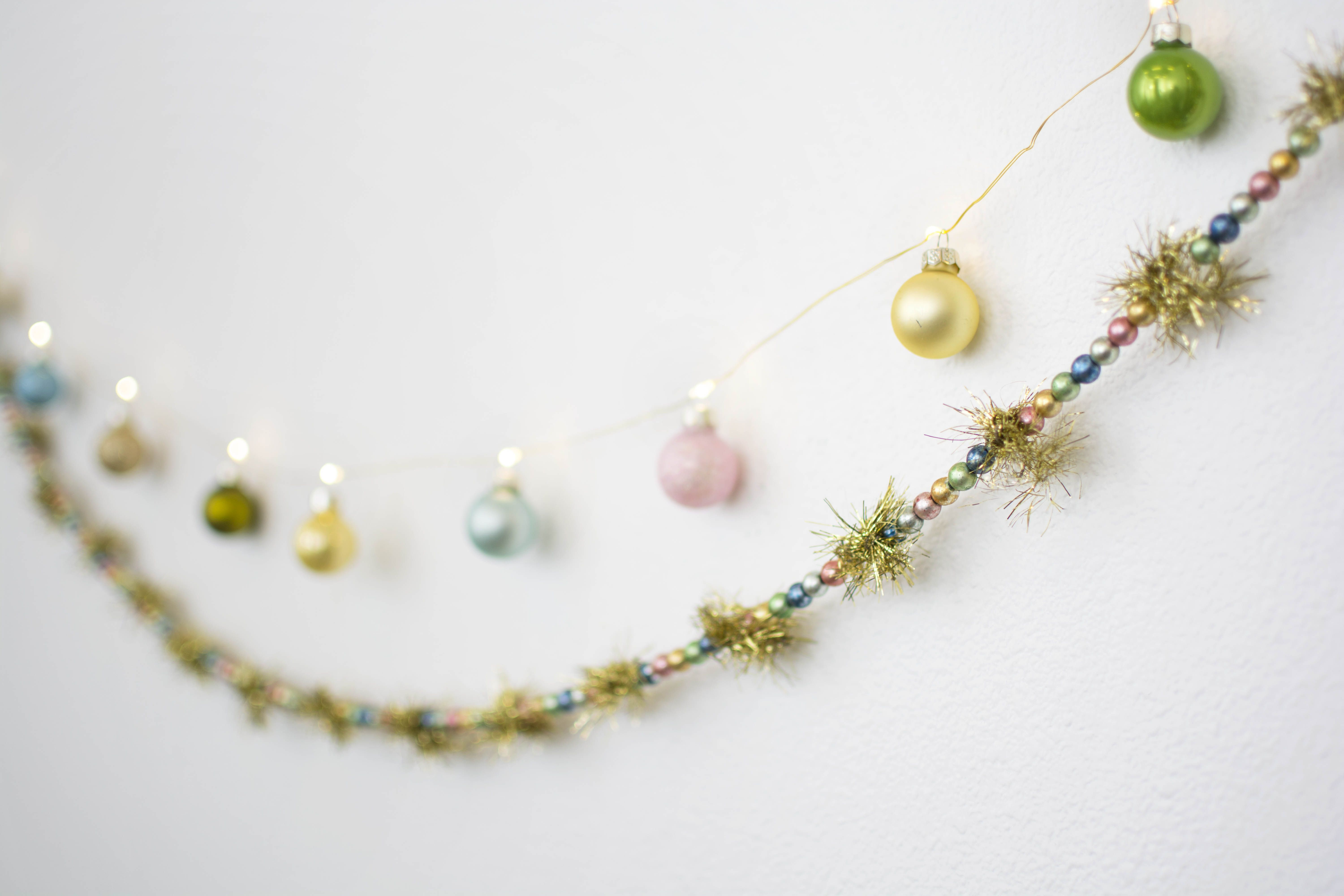 Our Tinsel Beaded Garland Sets Colorful Vintage Style With Its