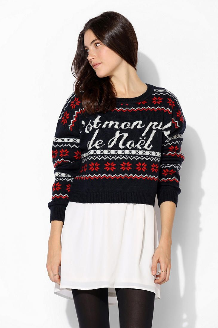 Coincidence & Chance Noel Fair Isle Cropped Sweater