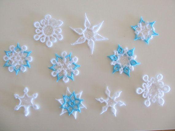 Mini frozen snowflake Freestanding lace embroidery designs ...