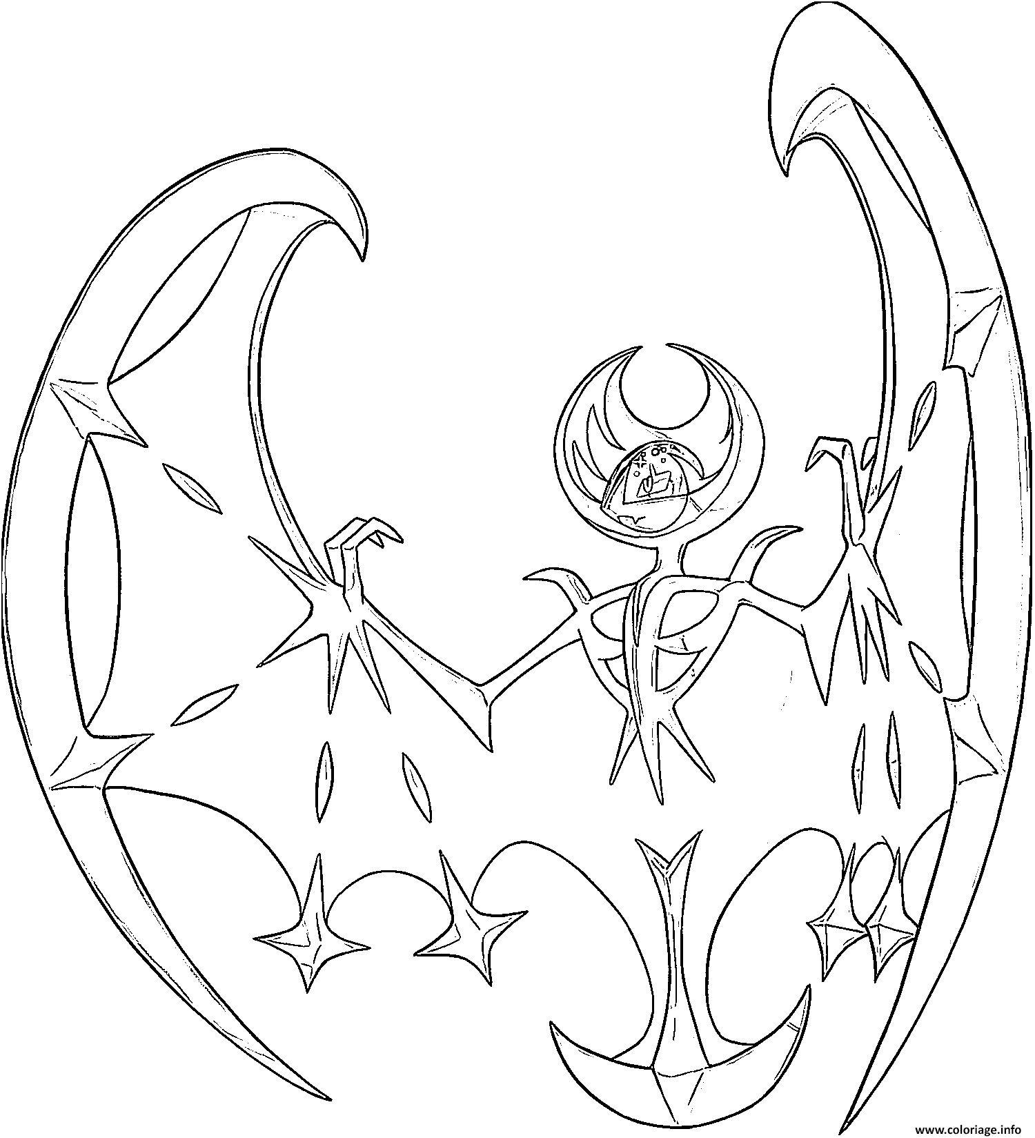8 Aimable Pokemon Lunala Coloriage Images