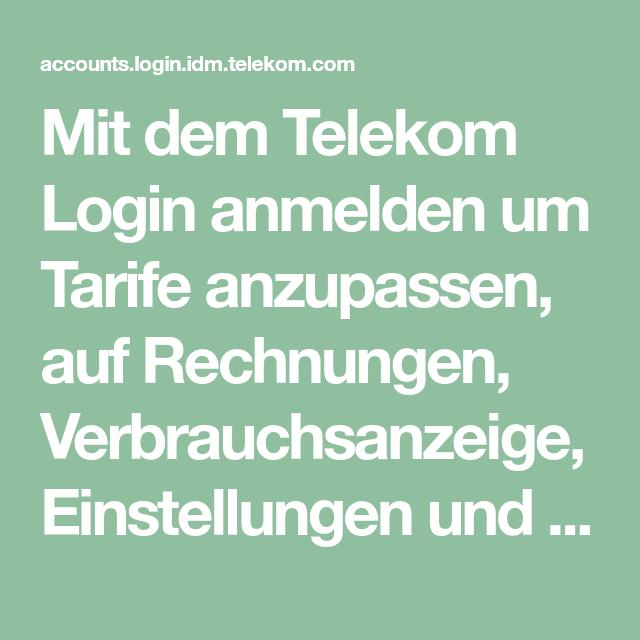 Login rechnung telekom Fragen zur