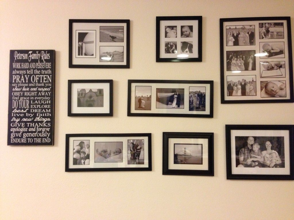 Photo Wall Ideas With Different Frames : Decorating ideas enchanting for living room