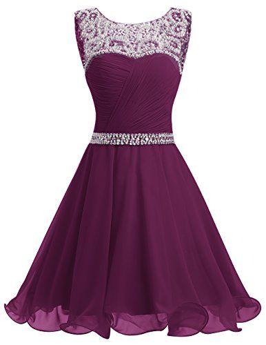 Dresstells® Short Chiffon Open Back Prom Dress With Beadi... https ...