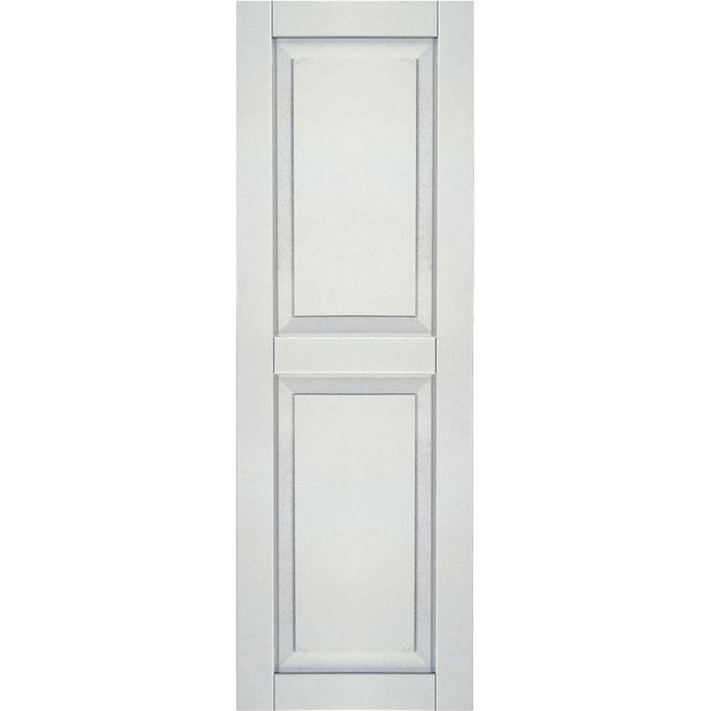 Ekena Millwork 15 In X 61 In Exterior Composite Wood Raised Panel Shutters Pair Black Raised Panel Shutters Shutters Raised Panel