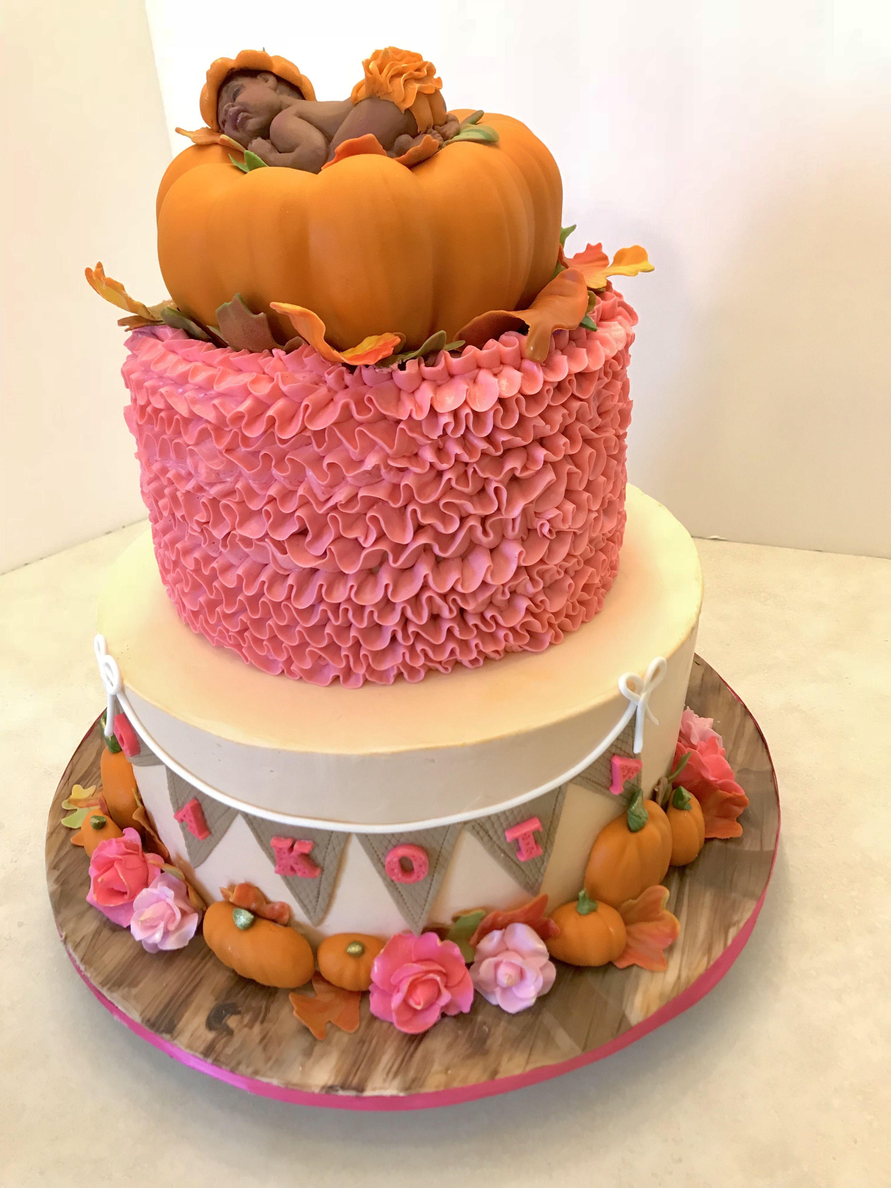 Little Pumpkin Baby S Shower Cake Fall Baby Shower Cake Baby