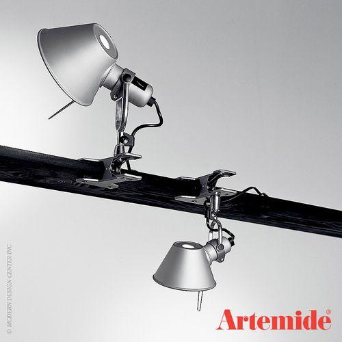 Artemide Tolomeo Micro Led Clip Spot Table Lamp Wood