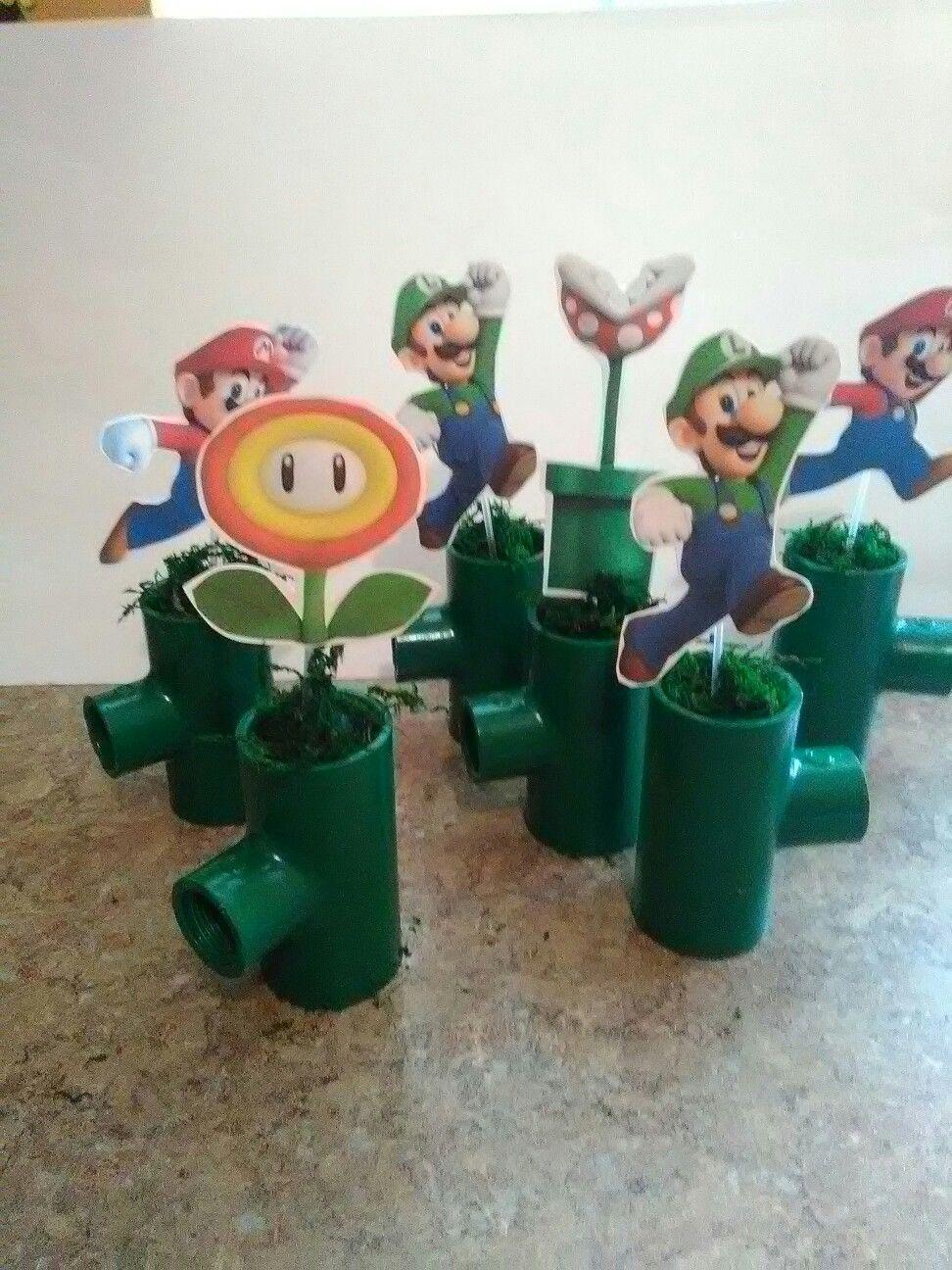 Mario bros centerpieces mario brothers party decoration