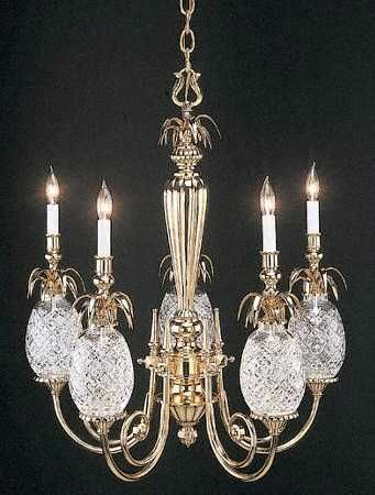 Waterford Crystal Chandelier With Pineapples Symbol Of