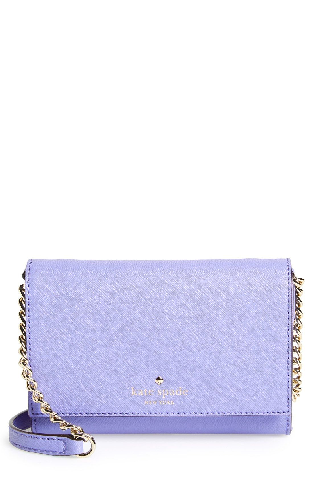 This compact Kate Spade crossbody in purple gives off a fun and chic ... 11d16399ee7fb