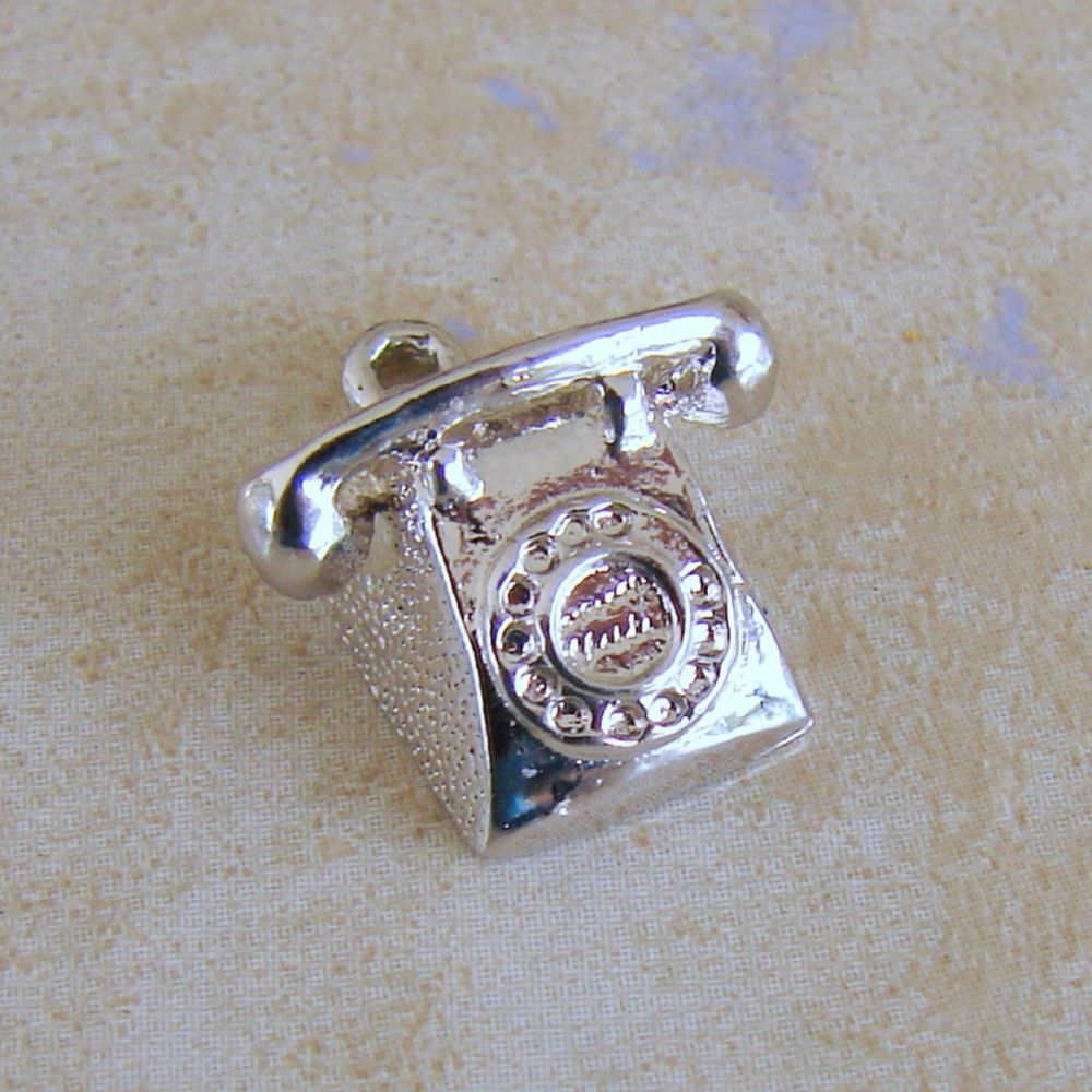 Old Fashioned Telephone Rotary Dial Phone Sterling Silver Bracelet ...
