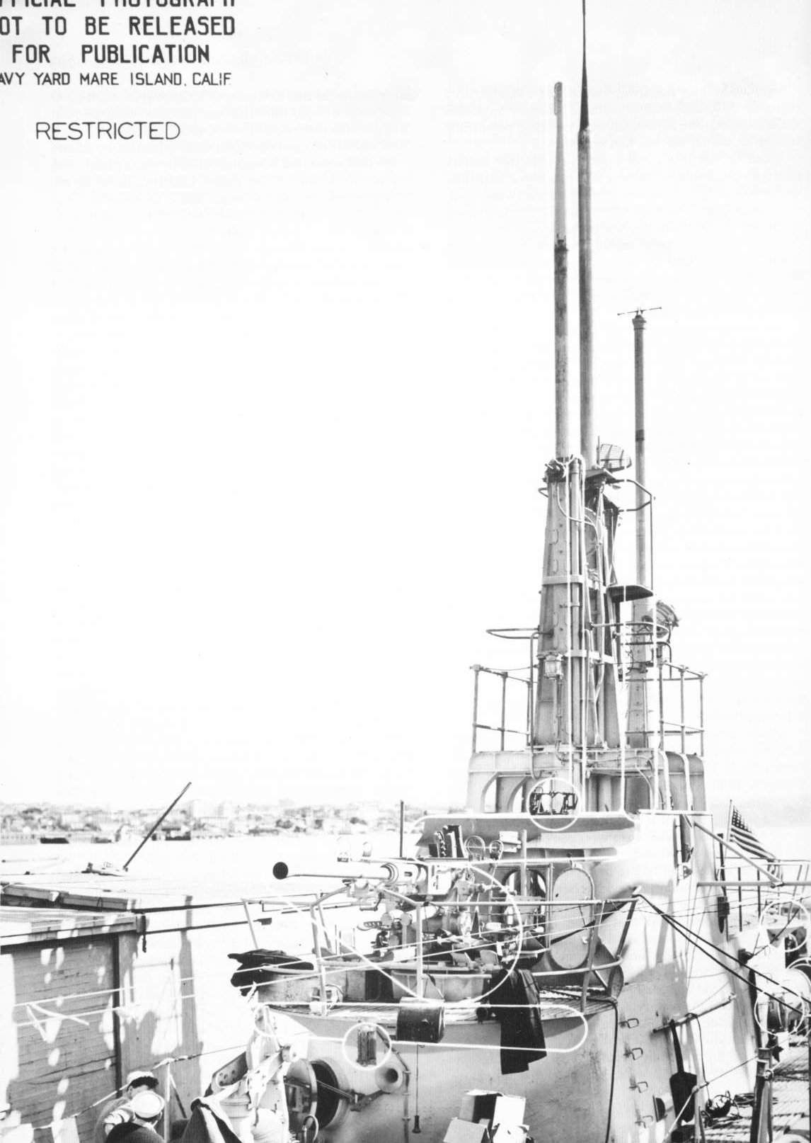 Photo Superstructure Of Uss Cod During Overhaul Mare