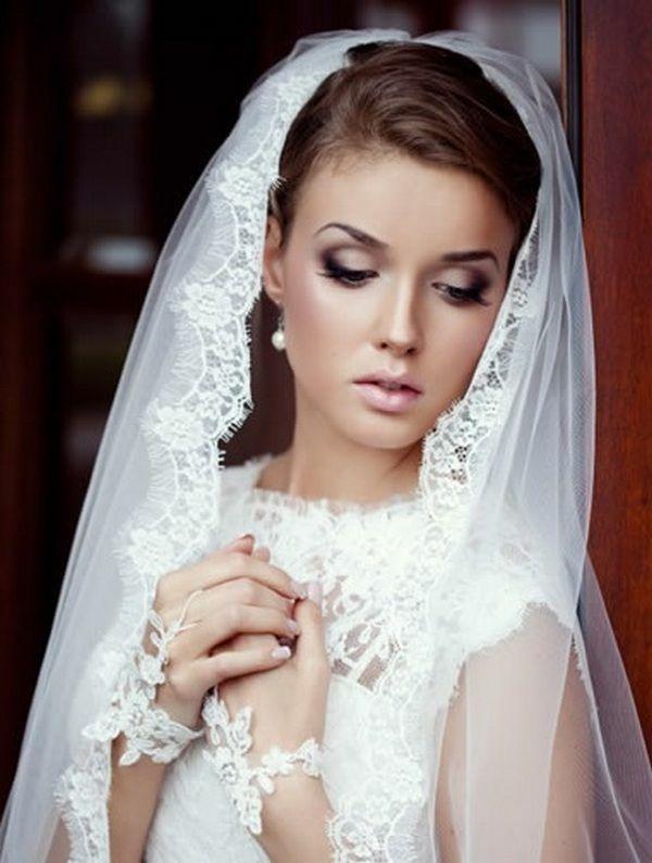 Makeup Braut Dunkle Augen Lila Lidschatten Auftragen Frisuren