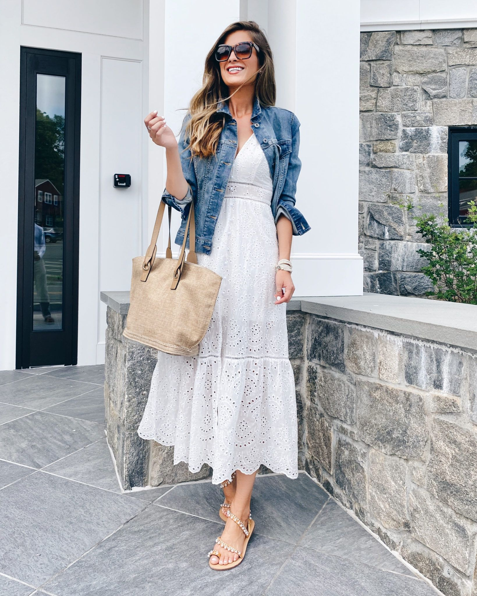 White Summer Dress Roundup Pinteresting Plans Chic Summer Outfits Elegant Summer Outfits Casual White Dress [ 2048 x 1639 Pixel ]