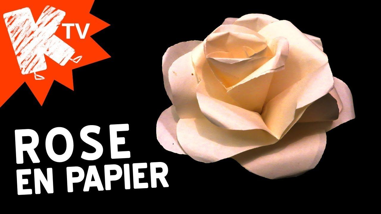 Rose en papier - Facile | Rose en papier, Fleur en papier facile, Bricolage fleurs en papier