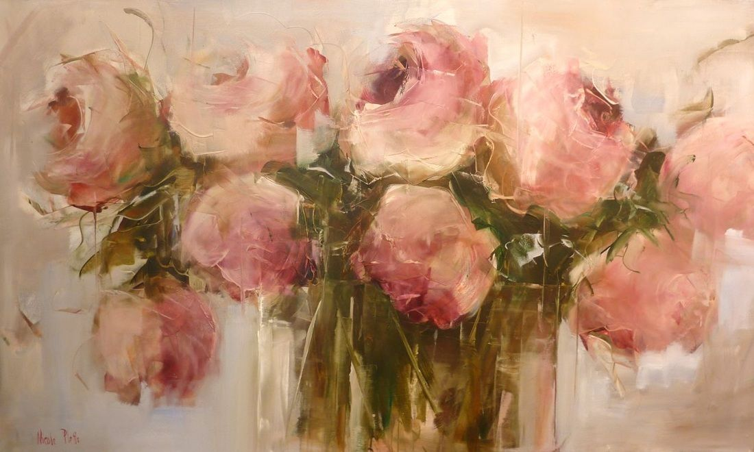 Blush Pink Roses, by Nicole Pletts.