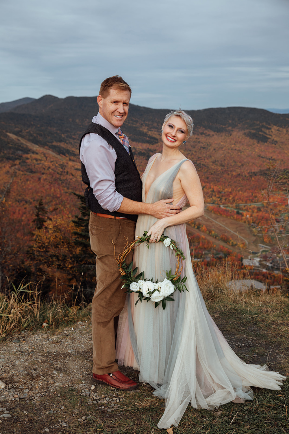 Whimsical Autumn Adventure Elopement in Vermont with ...