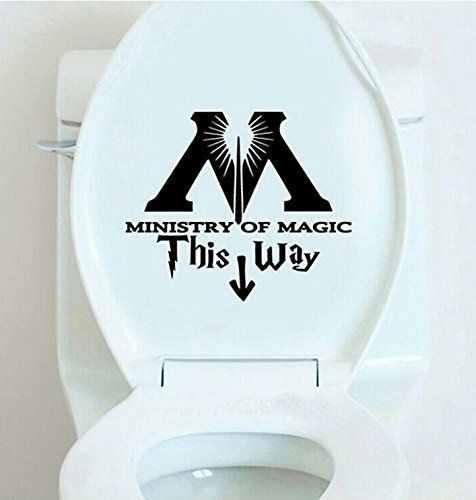 Set of 2 Magical World Toilet Lid Decal Sticker