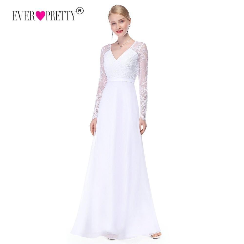 Long sleeve v neck wedding dress  Illusion Long Sleeve Wedding Dress Lace A Line V Neck Bridal Dress