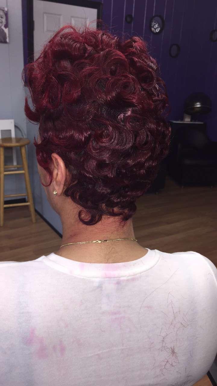 Red hair shortcut african american black girls wavy short cut by