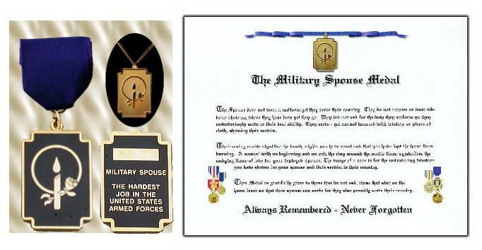 Military Spouse Appreciation Medal Certificate Aside From My Kids This Is One Of The Things Im Most Proud
