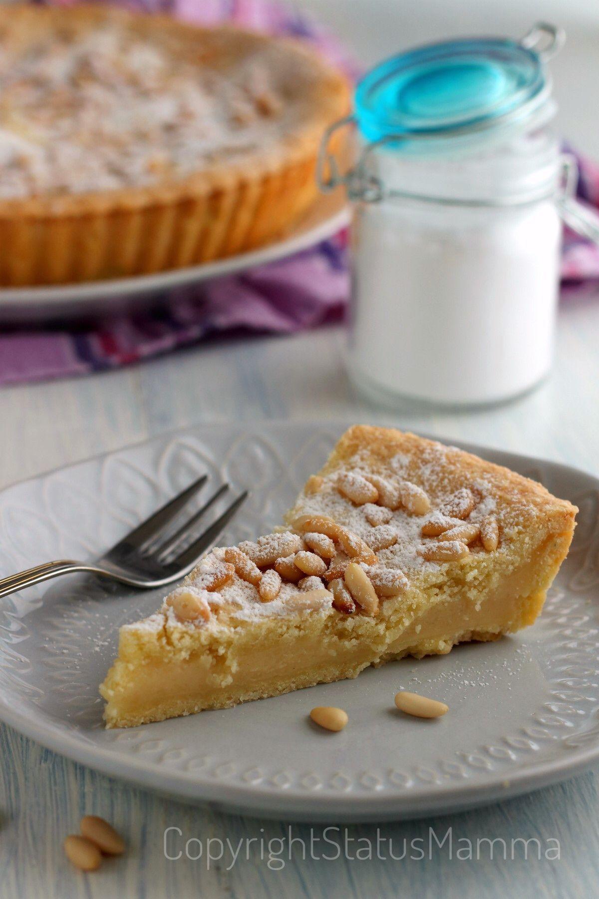Photo of torta della nonna crostata con crema al limone ai pinoli ricetta