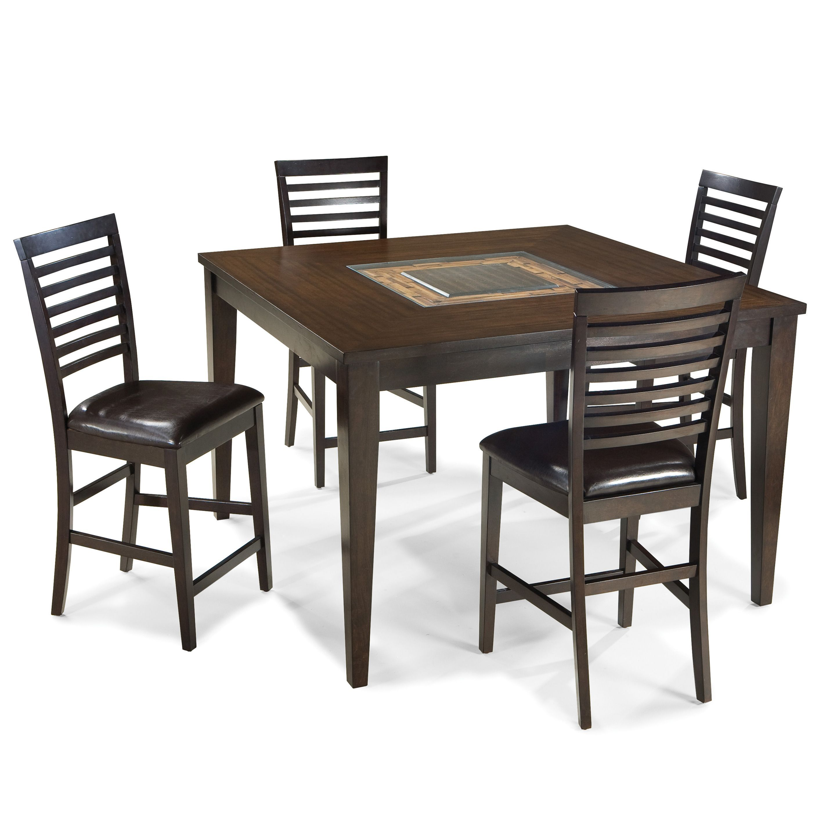 Intercon Kashi 54 Inch Square Gathering Table 54x54 Brown Chocolate
