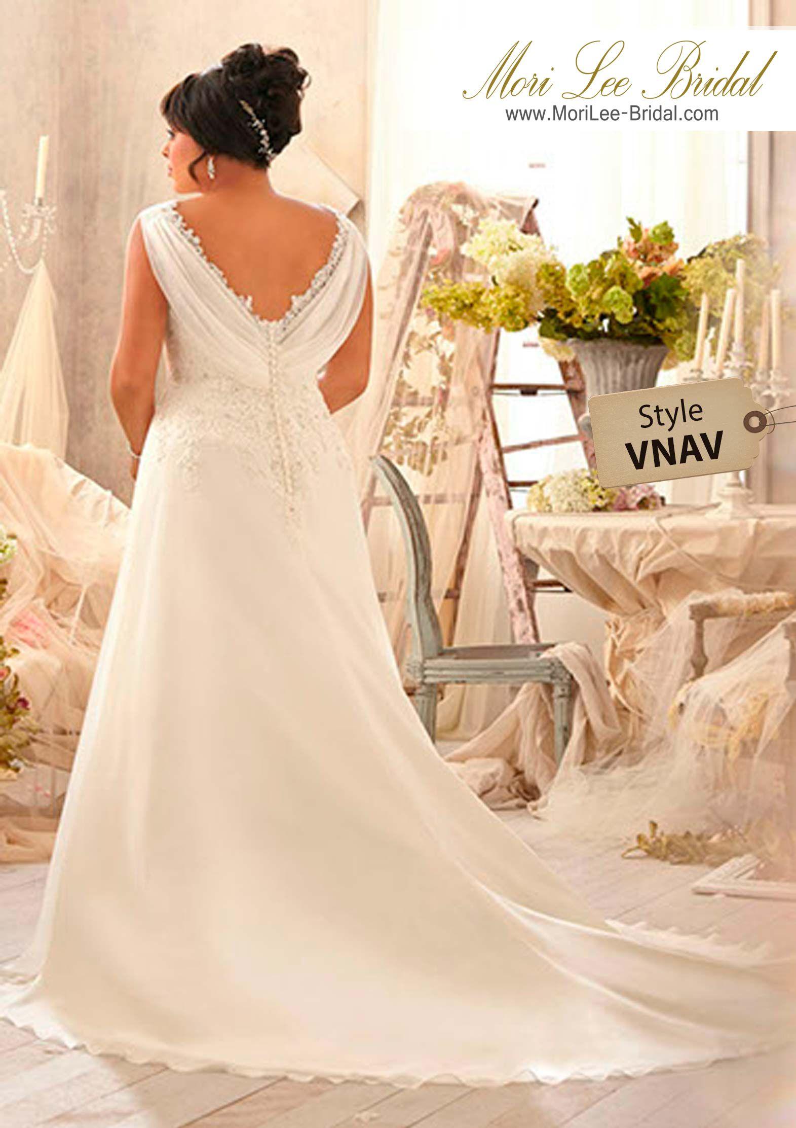 Dress style vnav alencon lace appliques on delicate chiffon colors