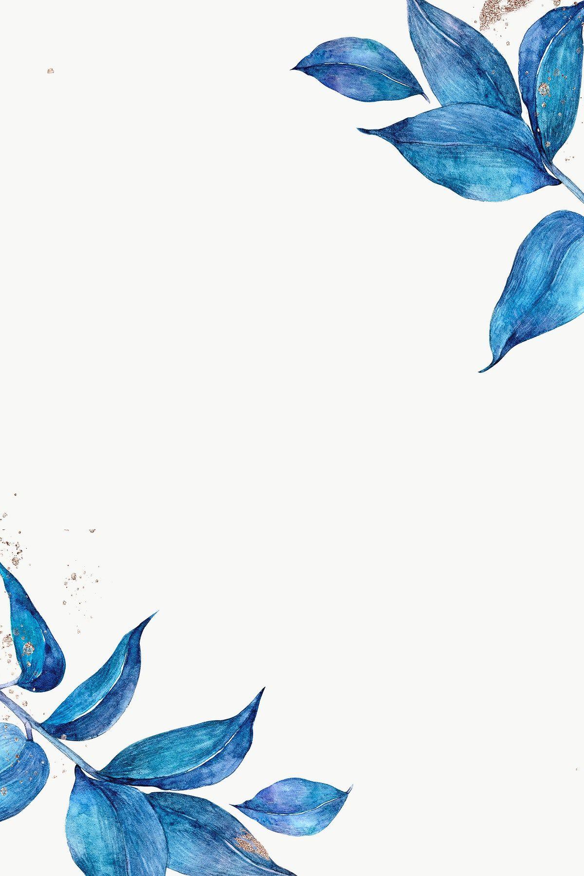 Download free png of PNG blue leaf frame botanical illustration by Adjima about blue leaf, Blue botanical leaf frame, watercolor plant template, blue watercolor design, and watercolour winter 2472968