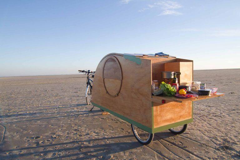 Bicycle caravan, Bicycle camper, Bikeavan, Fietscaravan - k amp uuml chenblock selber bauen