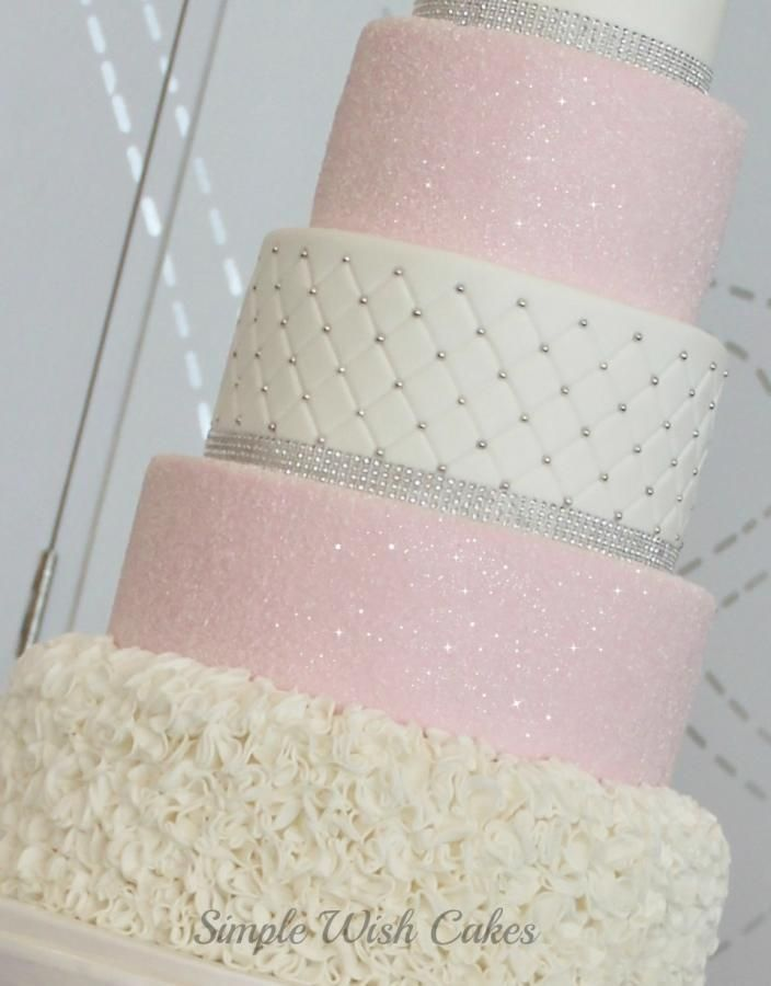 Pink Sugar Crystals  - Cake by Stef and Carla (Simple Wish Cakes)