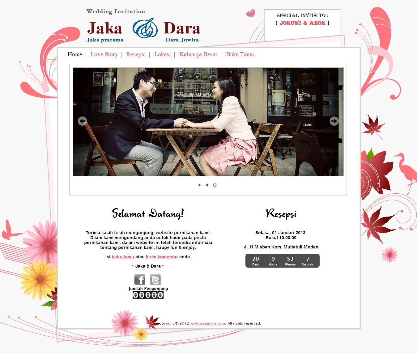 Template Undangan Pernikahan Online Tema Flower Datangya Theme