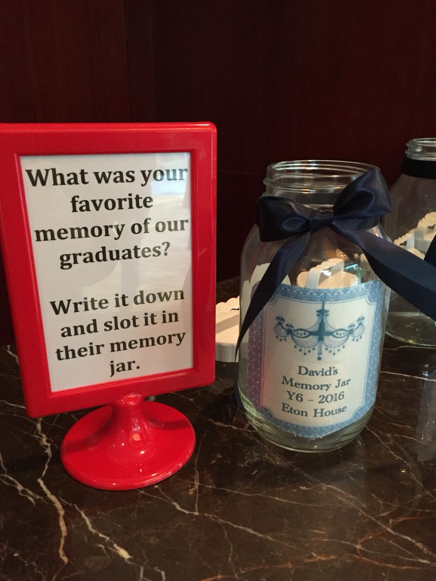 Graduation Idea Memory Jar Memory Jar Graduation Party Jar