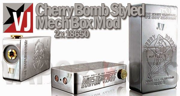 Hot The Cherry Bomb Styled Mech Box Mod 37 54 With Images Box Mods Cherry Bomb Mech