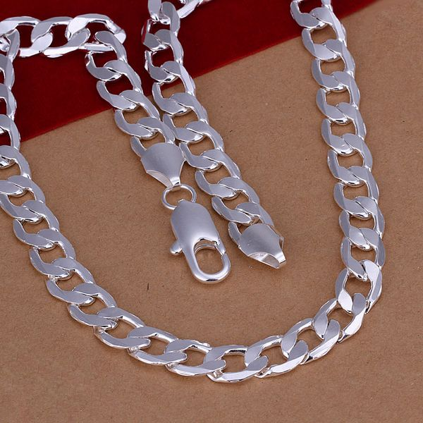 f0fbb38ec2ae 10MM 18-24inch men s jewelry 925 silver jewelry Authentic Sterling silver  men necklace Link Chains necklace men Russian   Price   US  3.98   FREE  Shipping ...