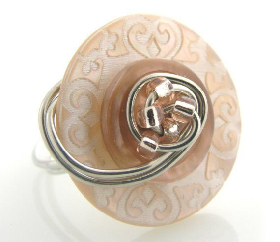 Made to Order Customized Button Ring