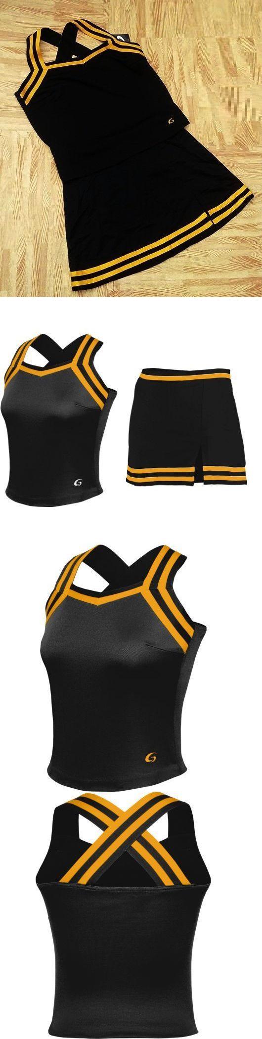 a2f8d5d1079 Cheerleading 66832  Sexy! Adult Xxl 2Xl Black Cheerleader Uniform Criss  Cross Top Skirt 44-46 36-38 -  BUY IT NOW ONLY   39.99 on eBay!