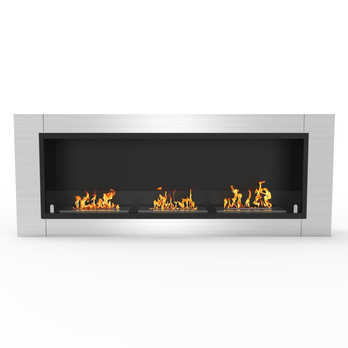 Er8002 Lenox 54 Inch Ventless Built In Recessed Bio Ethanol Wall Mounted Fireplace Ethanol Fireplace Bioethanol Fireplace