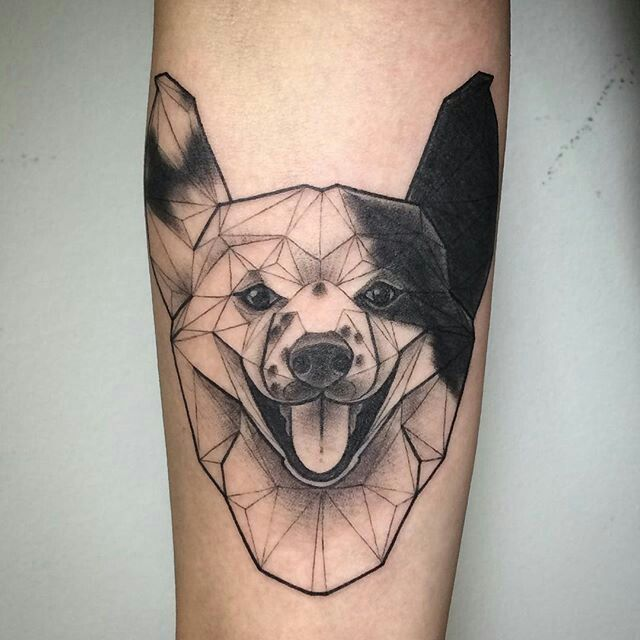 Geometric Dog Tattoo Dog Tattoos Geometric Dog Tattoo