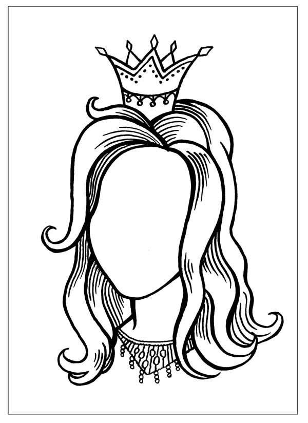 Raskraski Dlya Detej Raskras Lico Dorisuj Sam Princessa Devushka Lico Korona Princessa Raskraski Princessa Podelki Raskraski